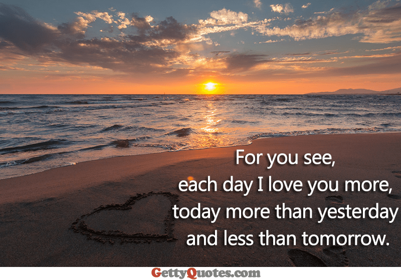 every day i love you less and less